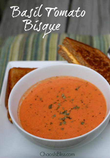 Tomato Bisque Soup  Basil Tomato Bisque Recipe