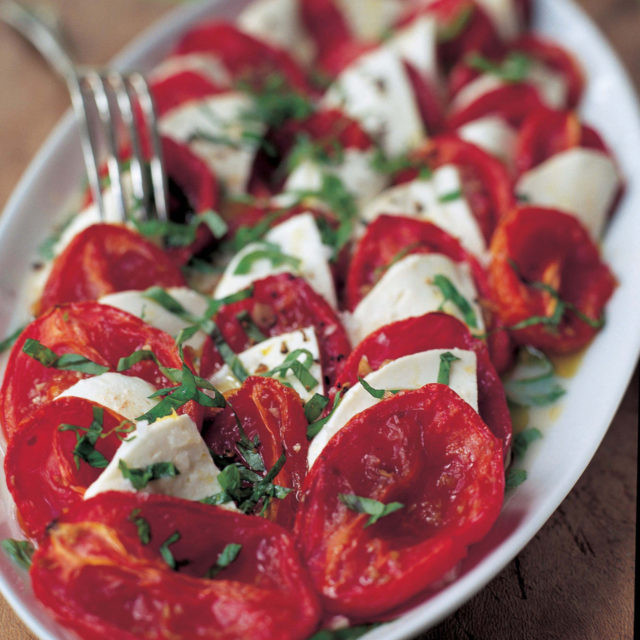 Tomato Caprese Salad  Roasted Tomato Caprese Salad Recipes