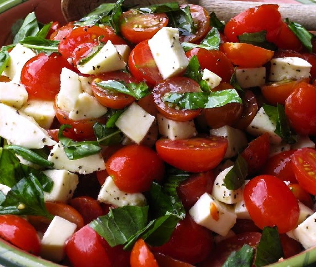 Tomato Caprese Salad  Caprese Salad with Grape Tomatoes Mozzarella & Basil