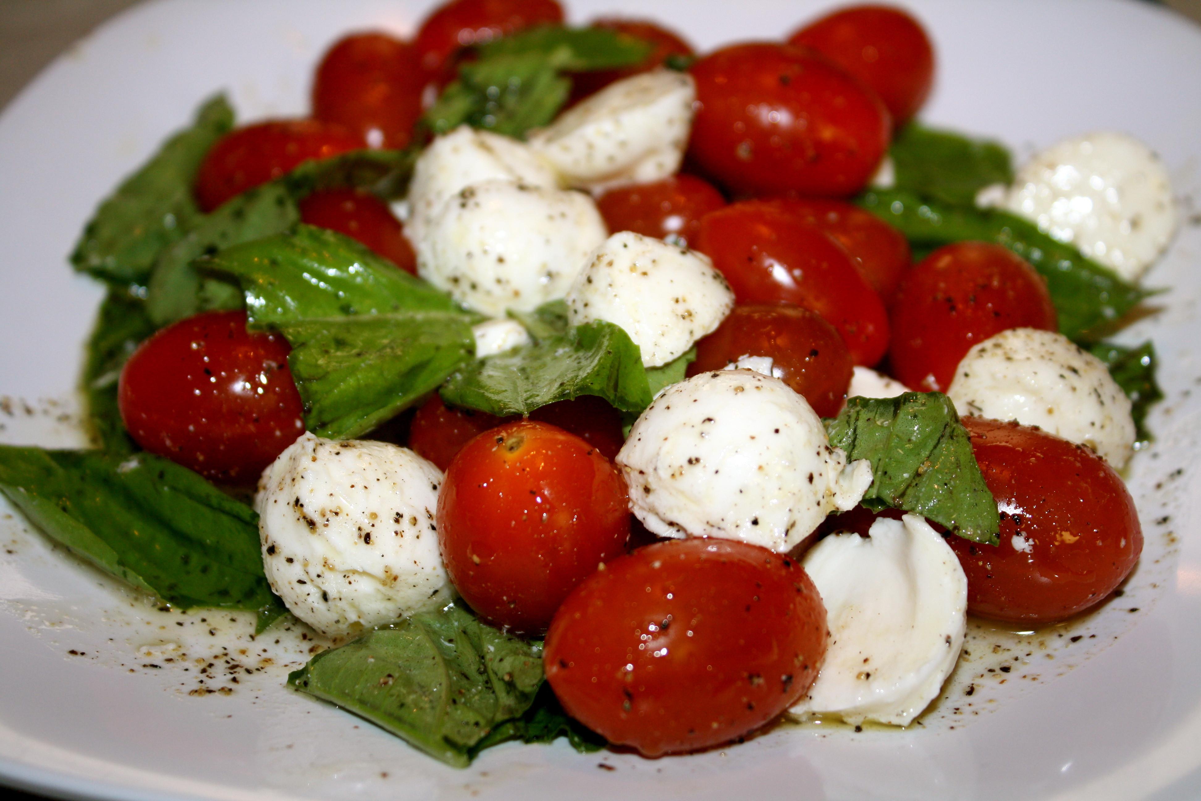 Tomato Caprese Salad  Cherry Tomato Caprese Salad – The Quotable Kitchen