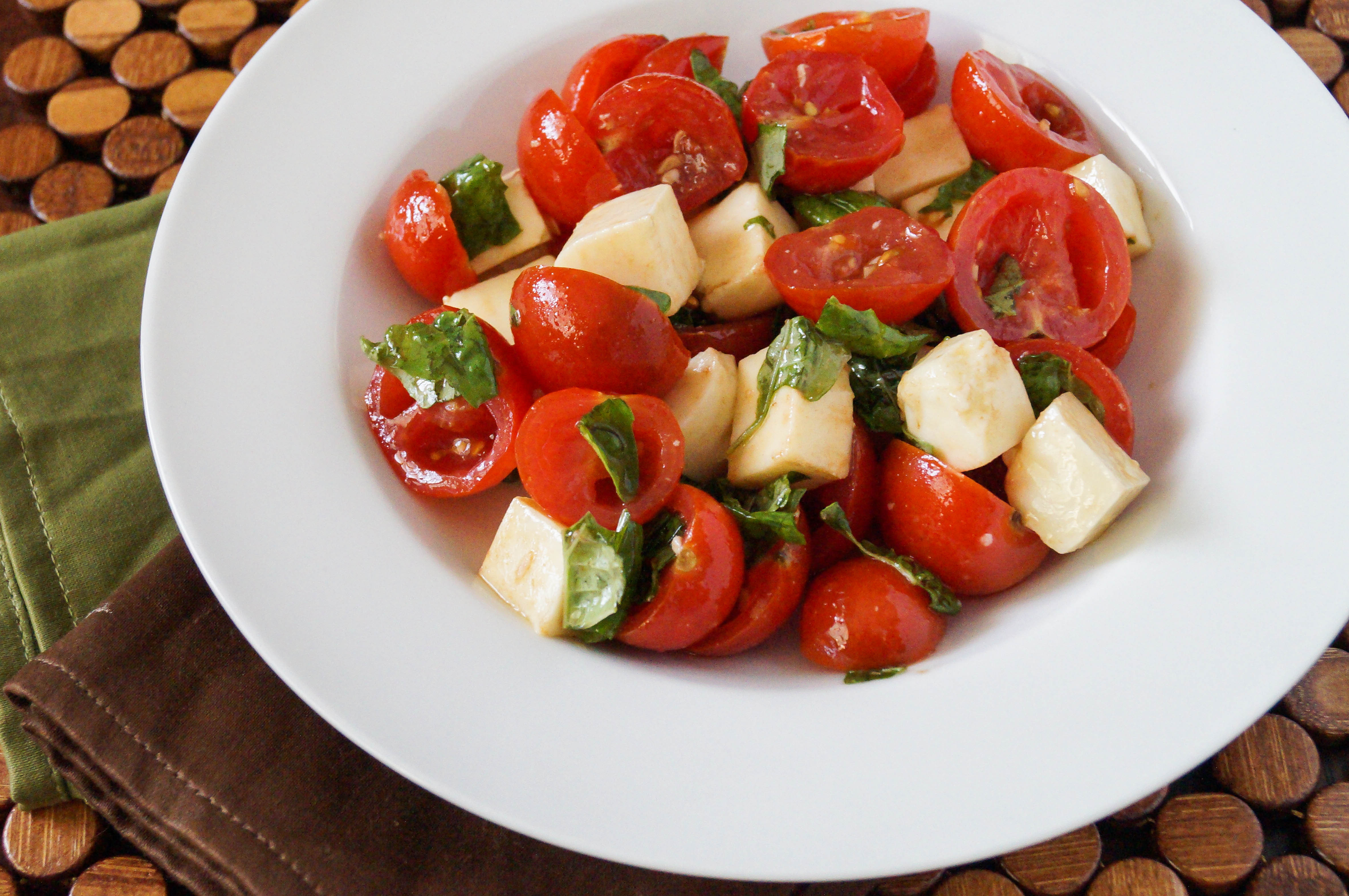 Tomato Caprese Salad  Cherry Tomato Caprese Salad Tara s Multicultural Table