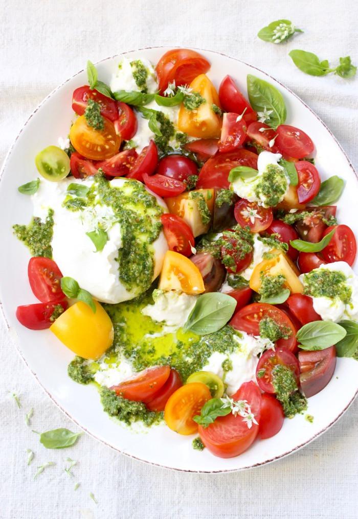 Tomato Caprese Salad  Tomato Burrata Caprese Salad • CiaoFlorentina