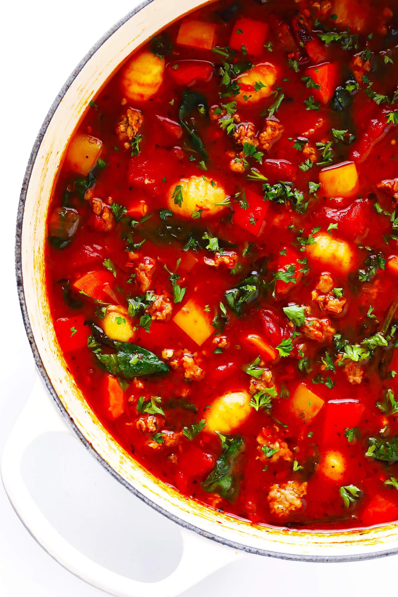 Tomato In Italian  Italian Sausage Gnocchi and Tomato Soup