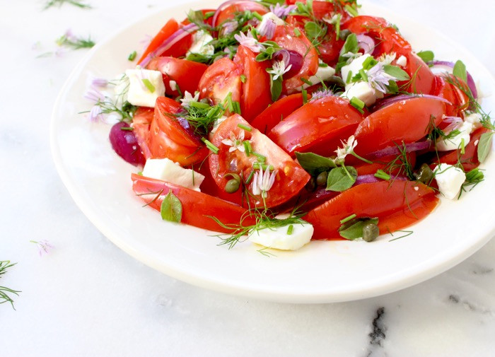 Tomato Onion Salad  Tomato ion Salad Recipe • CiaoFlorentina