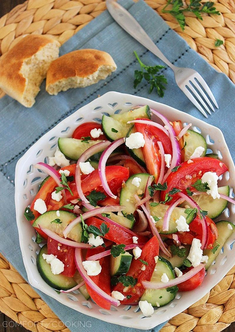 Tomato Onion Salad  Easy Tomato Cucumber and Red ion Salad