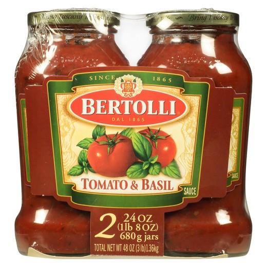 Tomato Sauce Brands  Bertolli Tomato & Basil Pasta Sauce 48 oz Tar