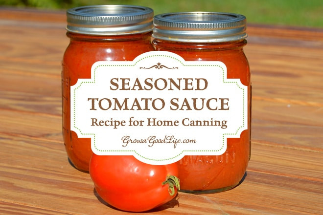 Tomato Sauce Canning Recipe  Seasoned Tomato Sauce Recipe for Home Canning