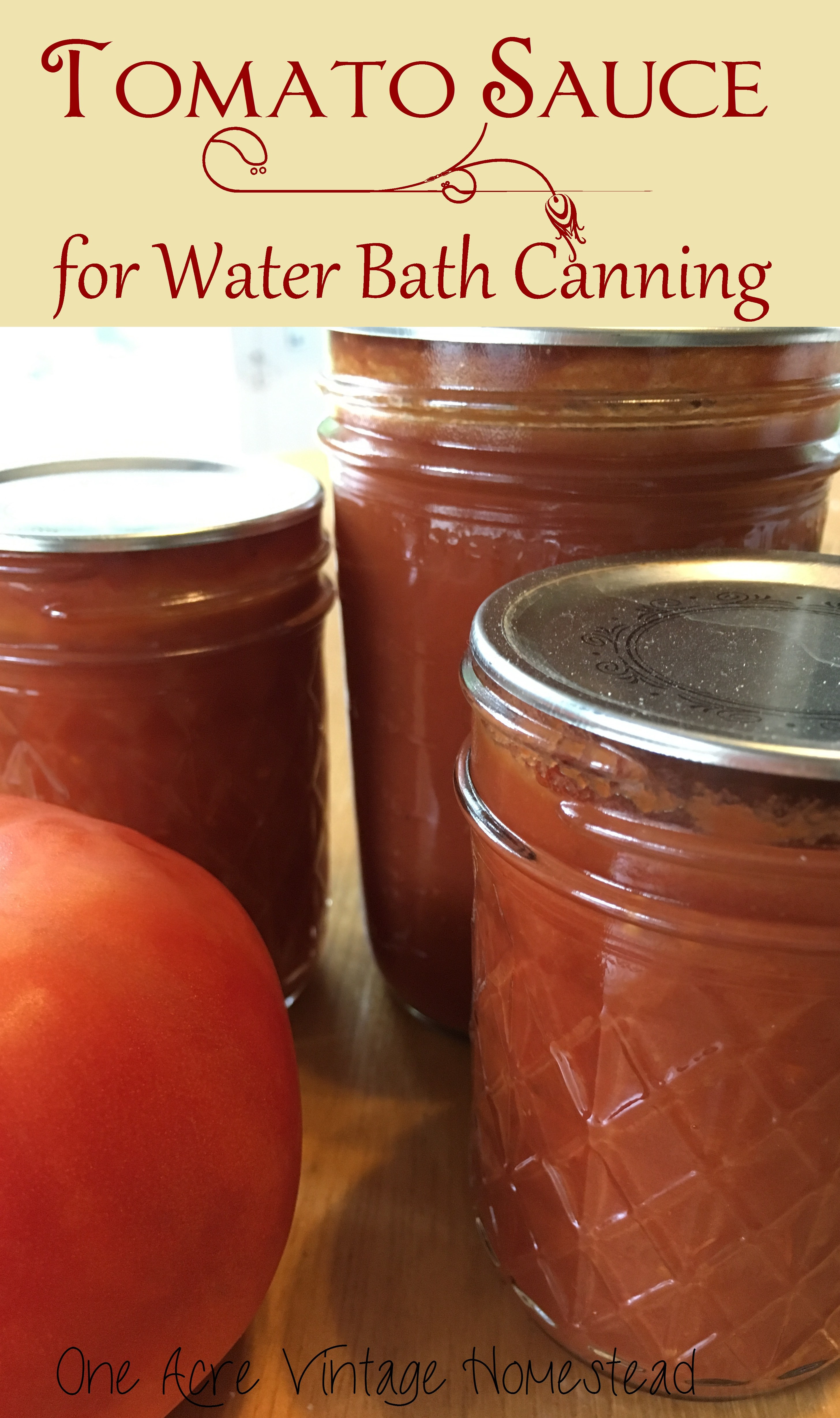 Tomato Sauce Canning Recipe  Tomato Sauce A Water Bath Canning Food Preservation Recipe