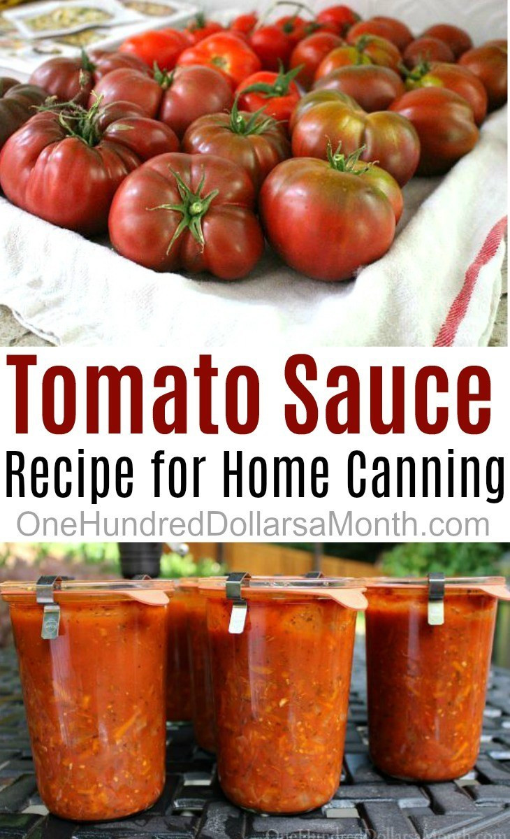 Tomato Sauce Canning Recipe  Simple Tomato Sauce Recipe for Canning e Hundred