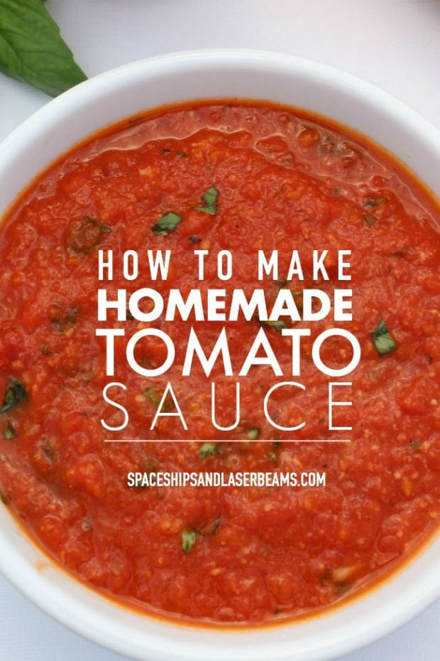Tomato Sauce Recipe  How to Make Homemade Tomato Sauce Spaceships and Laser Beams