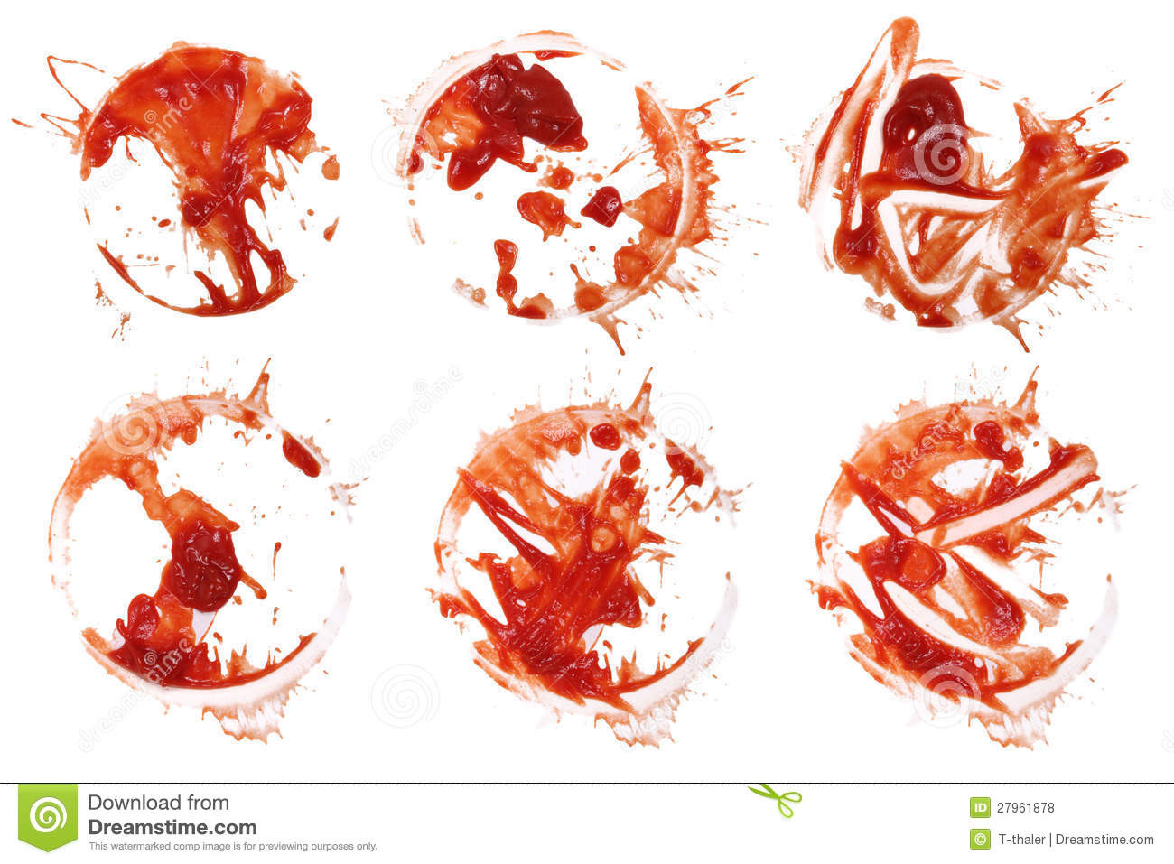 Tomato Sauce Stain  Ketchup Stain 6 Royalty Free Stock s Image