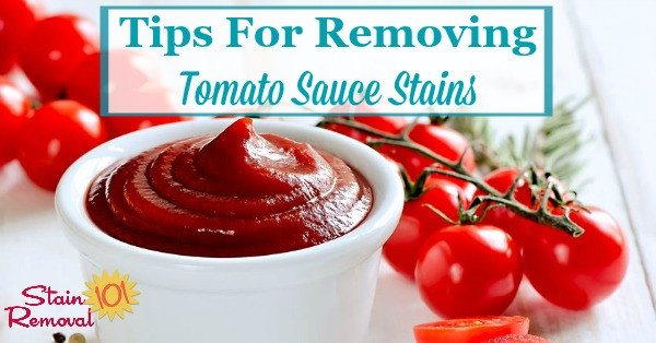 Tomato Sauce Stain  Tips For Removing Tomato Sauce Stains