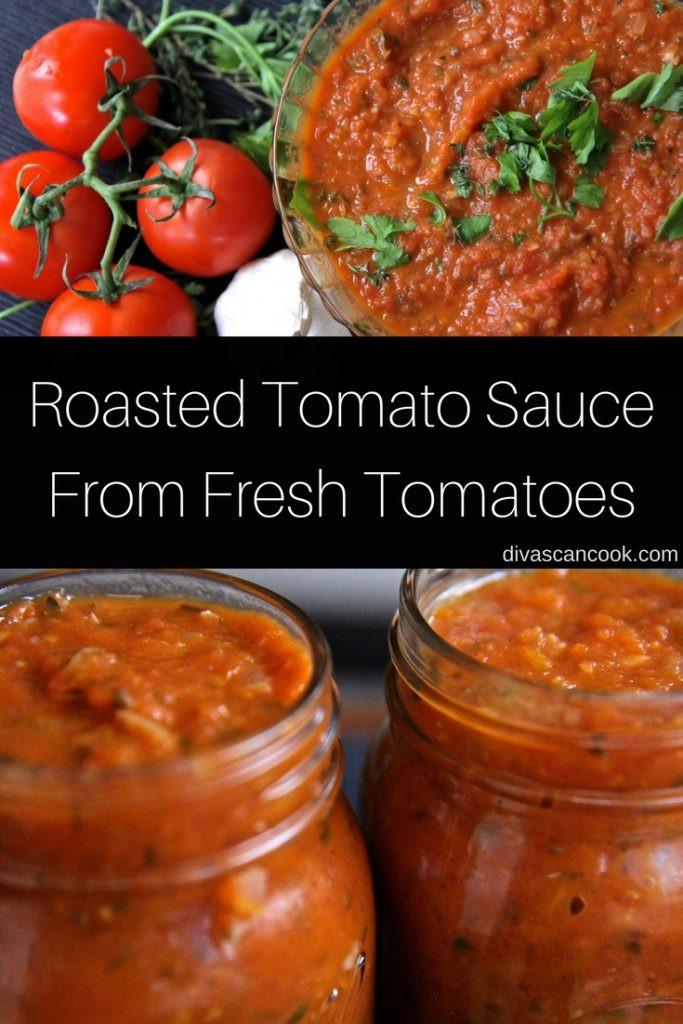 Tomato Sauce With Fresh Tomatoes  Homemade Tomato Sauce Using Fresh Tomatoes