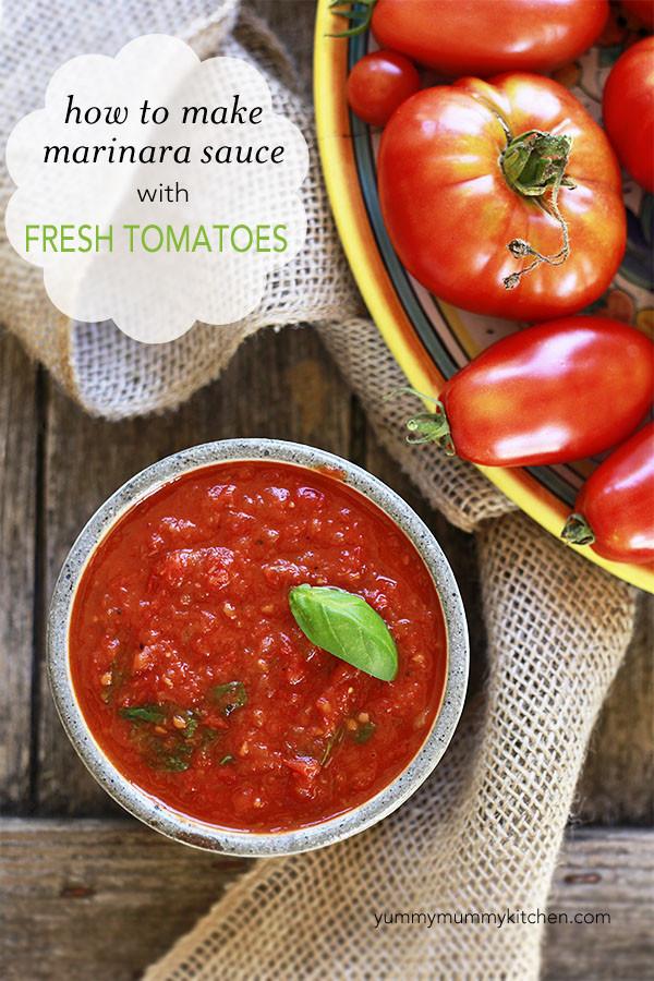 Tomato Sauce With Fresh Tomatoes  Yummy Mummy Kitchen How to Make Marinara Sauce with Fresh