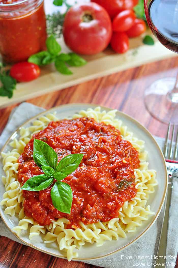 Tomato Sauce With Fresh Tomatoes  30 Minute Fresh Tomato Marinara Love Grows Wild