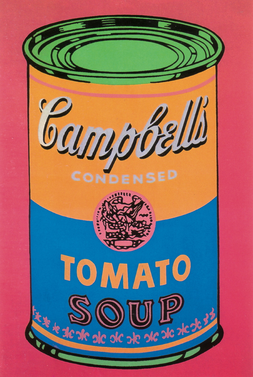 Tomato Soup Can  4 Assorted Warhol Soup Can Posters Lot 0652