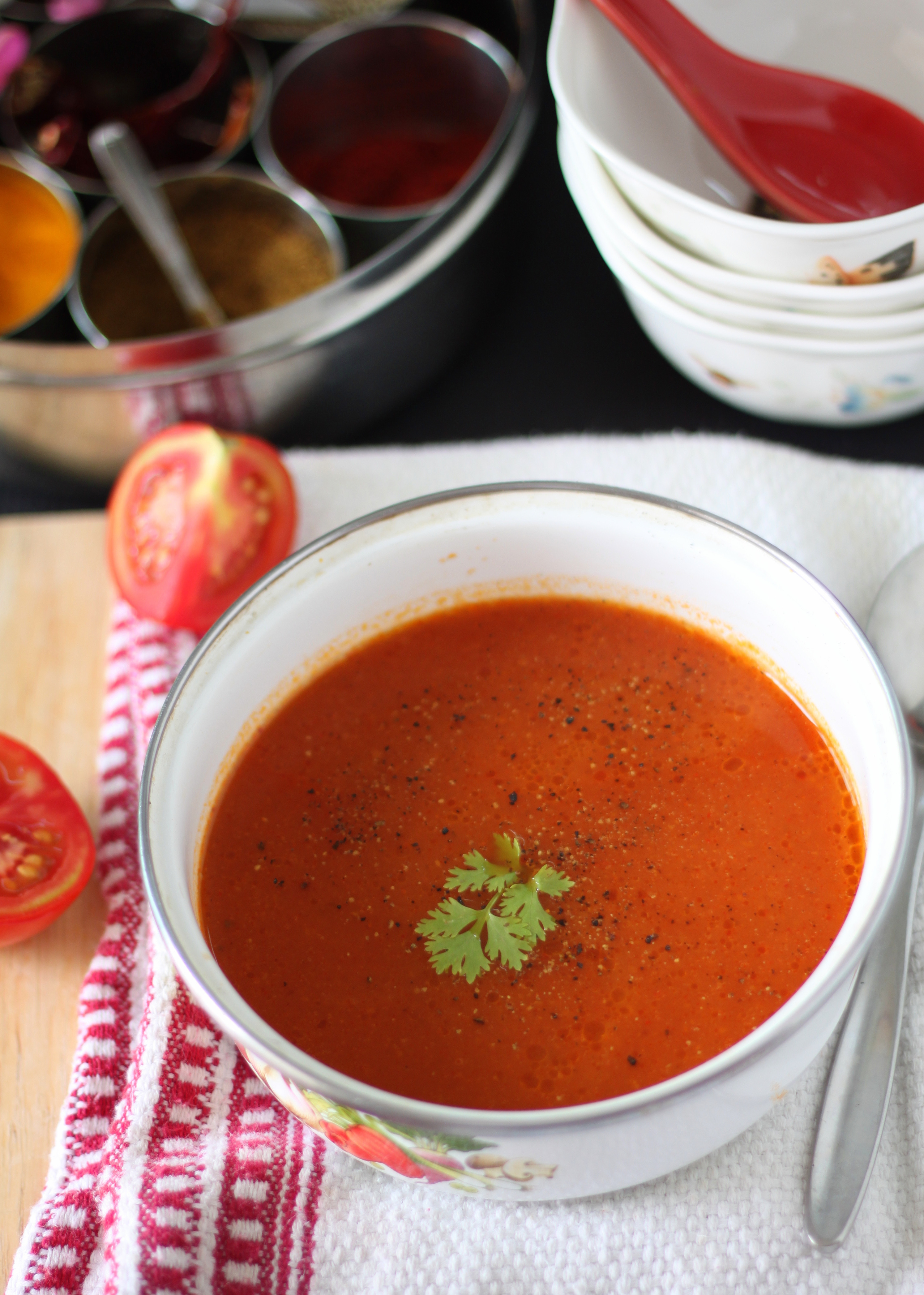 Tomato Soup Indian  Indian style Hot Tomato Soup