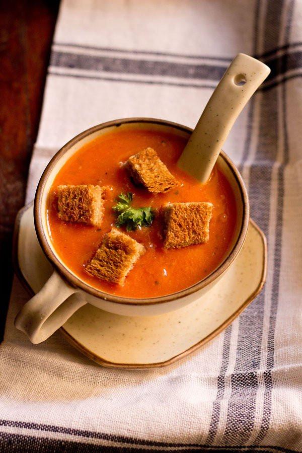 Tomato Soup Recipes  tomato soup recipe easy restaurant style delicious tomato