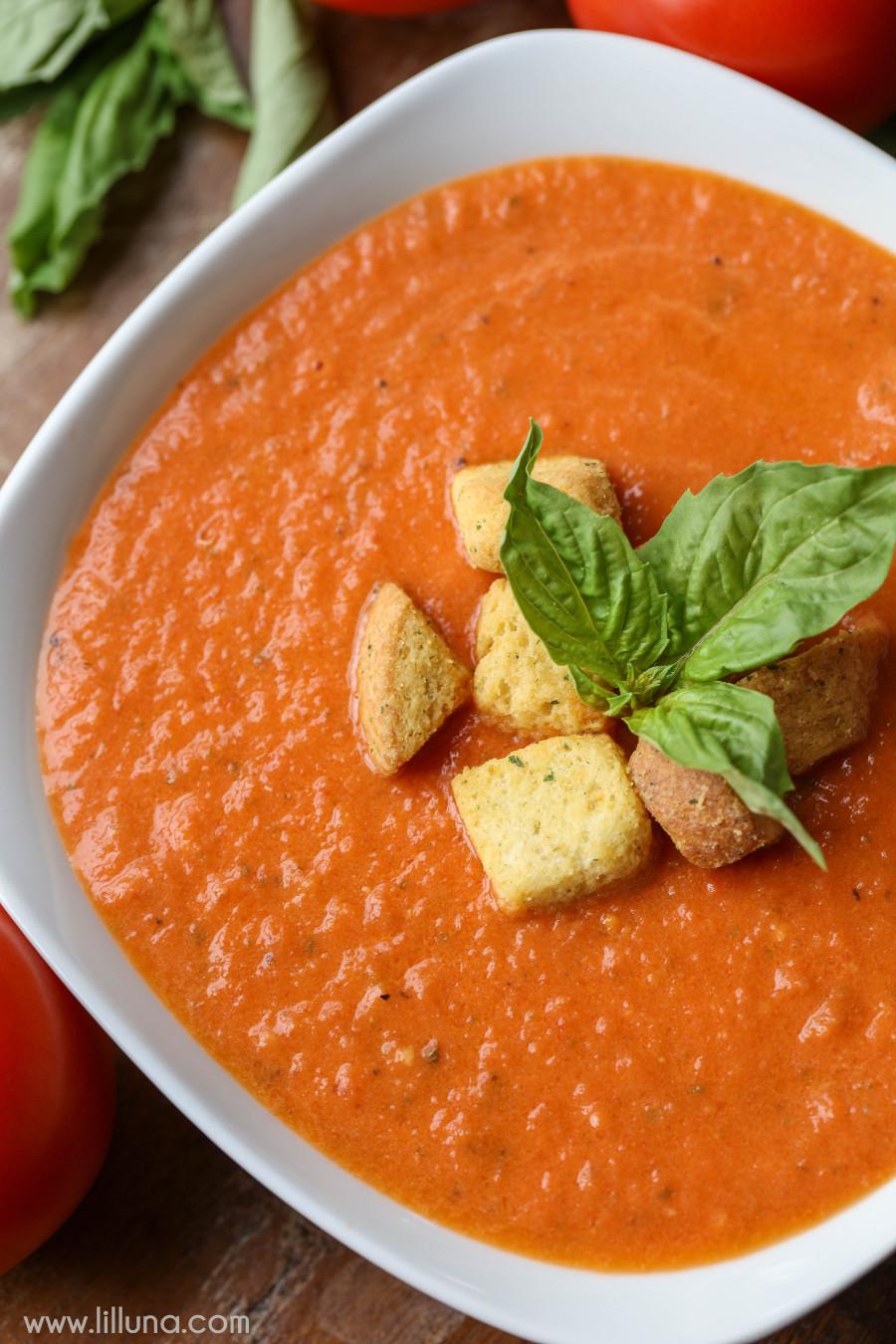 Tomato Soup Recipes  Tomato Basil Soup recipe