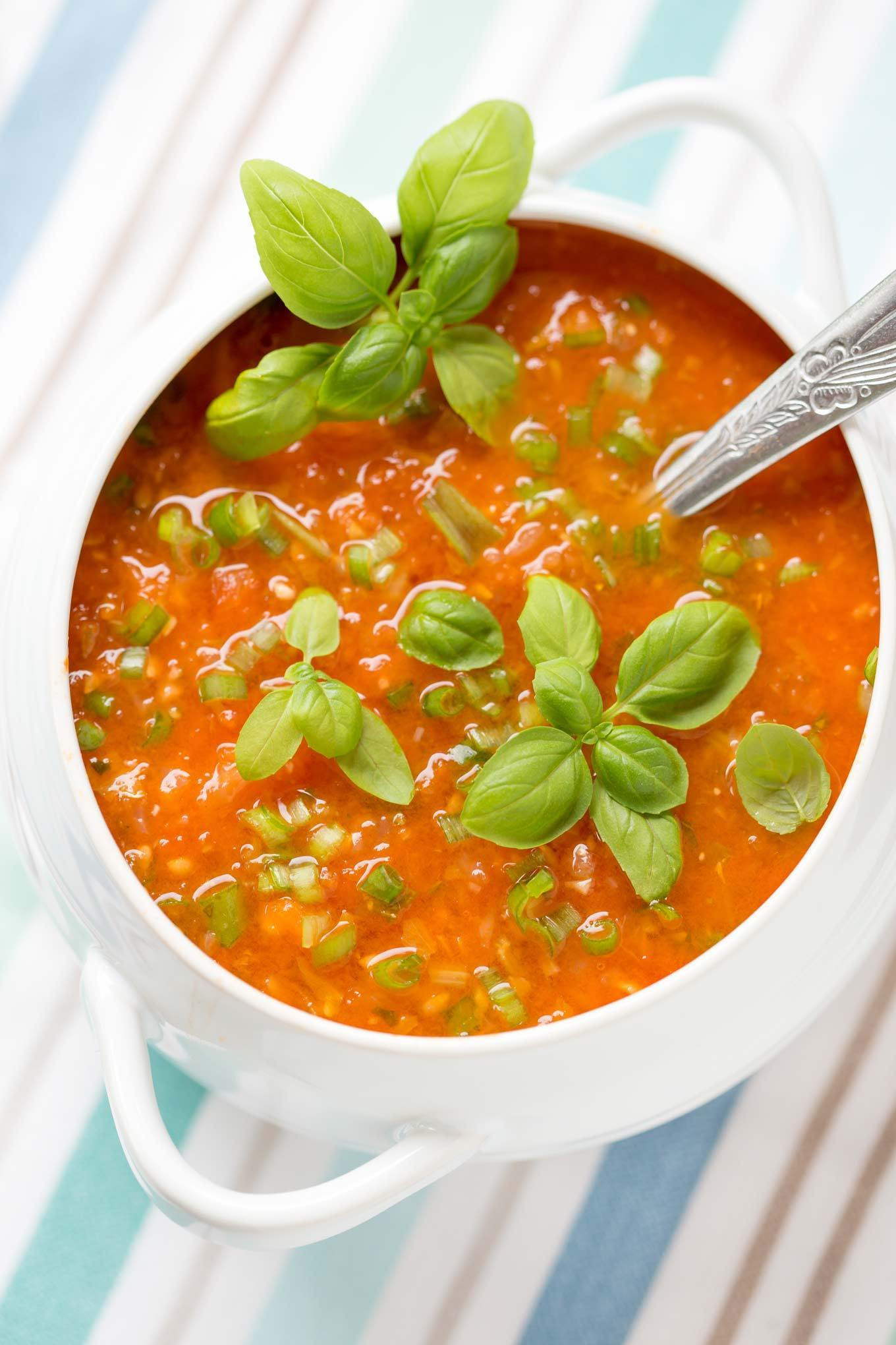 Tomato Soup With Fresh Tomatoes  30 min FRESH TOMATO SOUP RECIPE