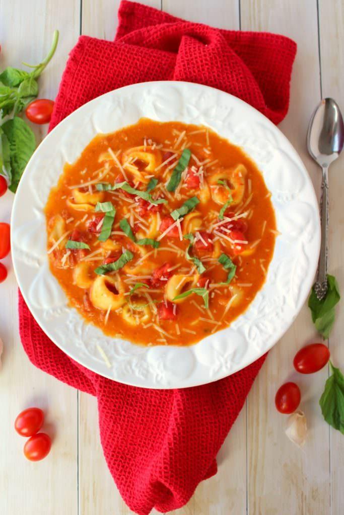Tomato Tortellini Soup  Creamy Tomato & Tortellini Soup Delightful E Made