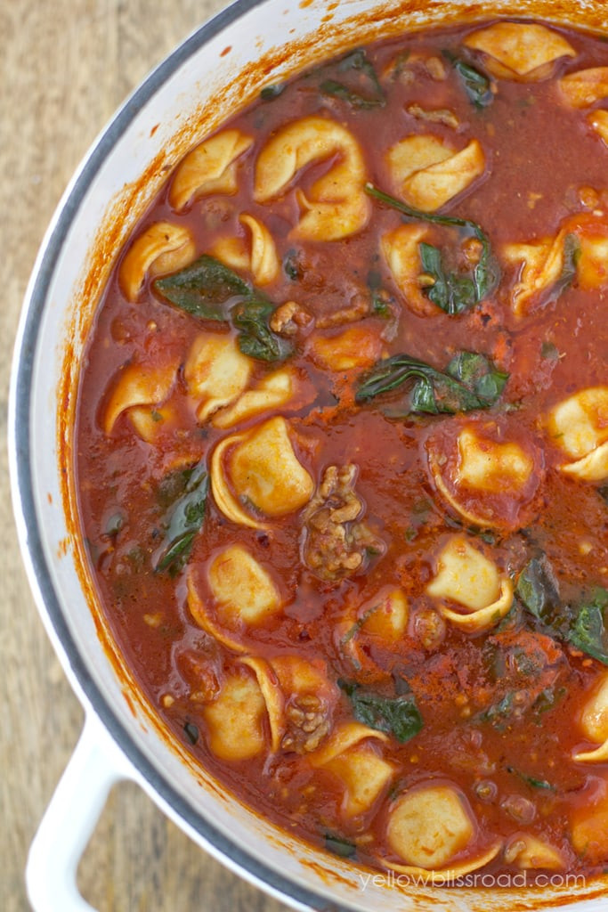 Tomato Tortellini Soup  Tortellini Soup with Italian Sausage & Spinach with
