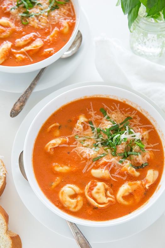 Tomato Tortellini Soup  Slow Cooker Creamy Tomato Basil Tortellini Soup – Dan330