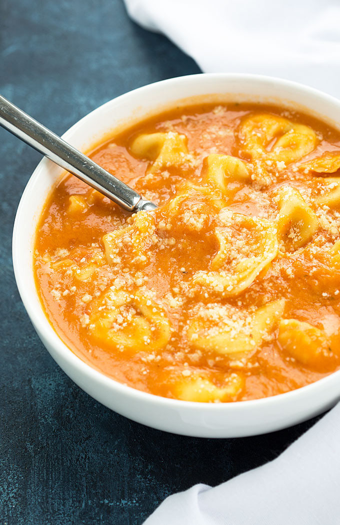 Tomato Tortellini Soup  Grisanti S Creamy Tomato Tortellini Soup Recipe