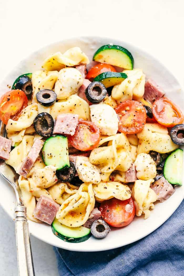 Tortellini Pasta Salad  Easy Italian Tortellini Pasta Salad