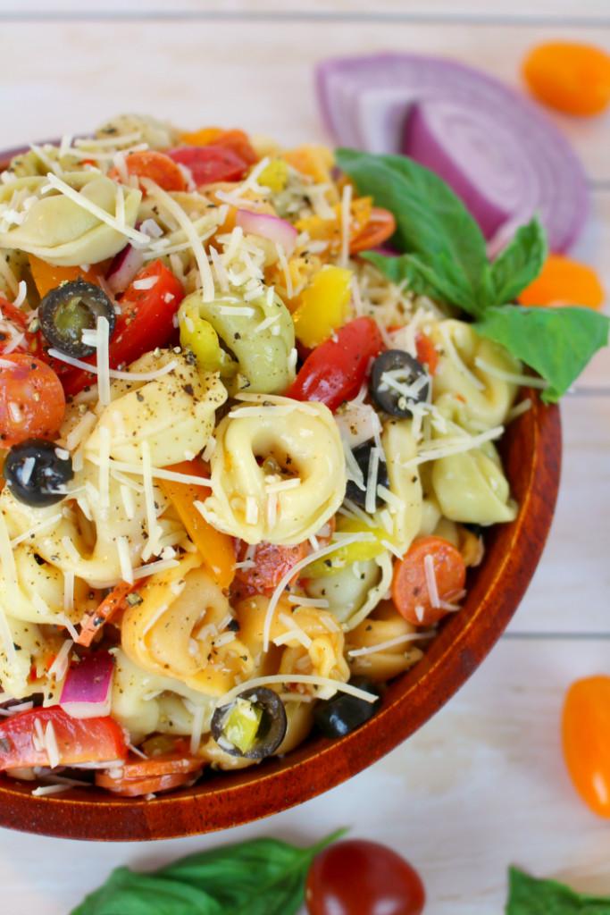 Tortellini Pasta Salad  Italian Tortellini Salad Delightful E Made