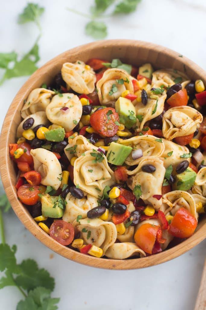 Tortellini Pasta Salad  Southwest Tortellini Pasta Salad Tastes Better From Scratch