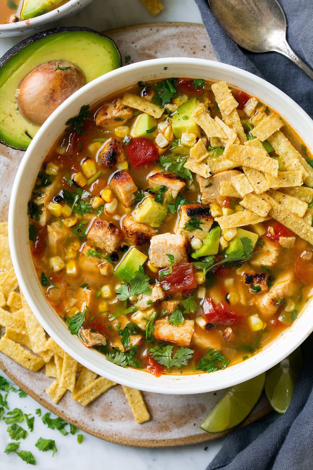 Tortilla Chicken Soup  Grilled Chicken Tortilla Soup Cooking Classy