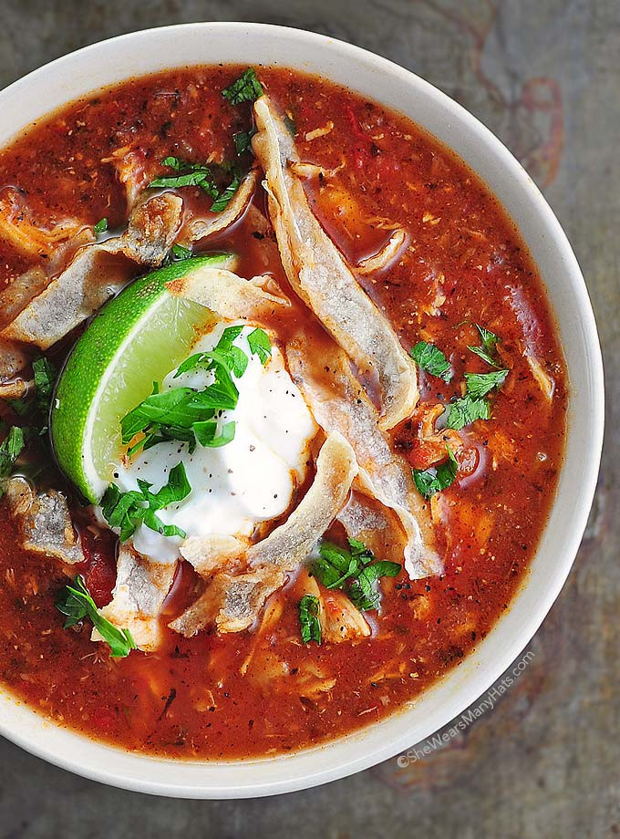 Tortilla Chicken Soup  Easy Chicken Tortilla Soup Recipe