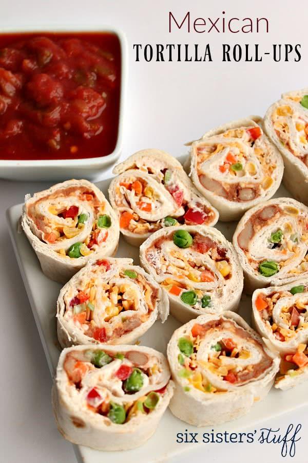 Tortilla Wraps Appetizer  Mexican Tortilla Wrap Roll Ups Recipe