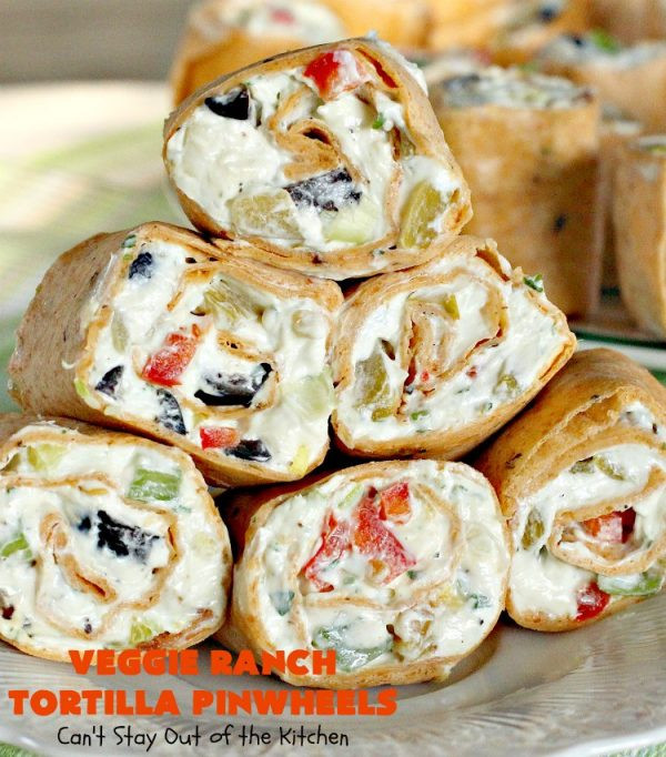 Tortilla Wraps Appetizer  Veggie Ranch Tortilla Pinwheels Can t Stay Out of the