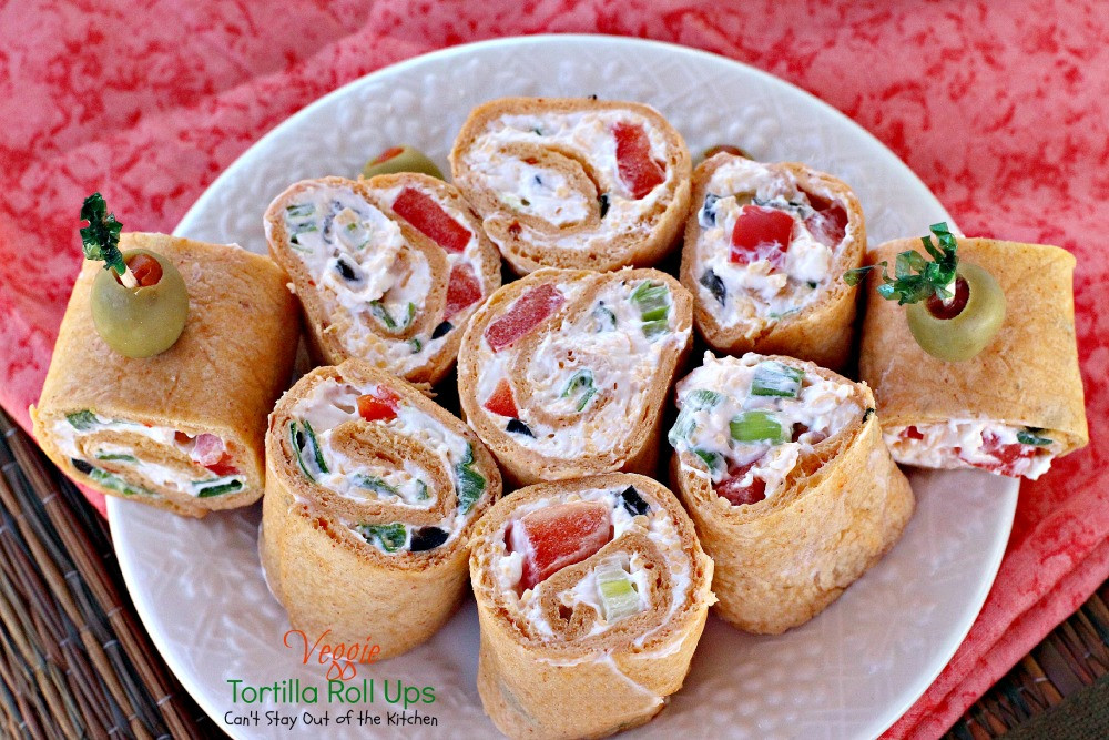 Tortilla Wraps Appetizer  Veggie Tortilla Roll Ups Can t Stay Out of the Kitchen