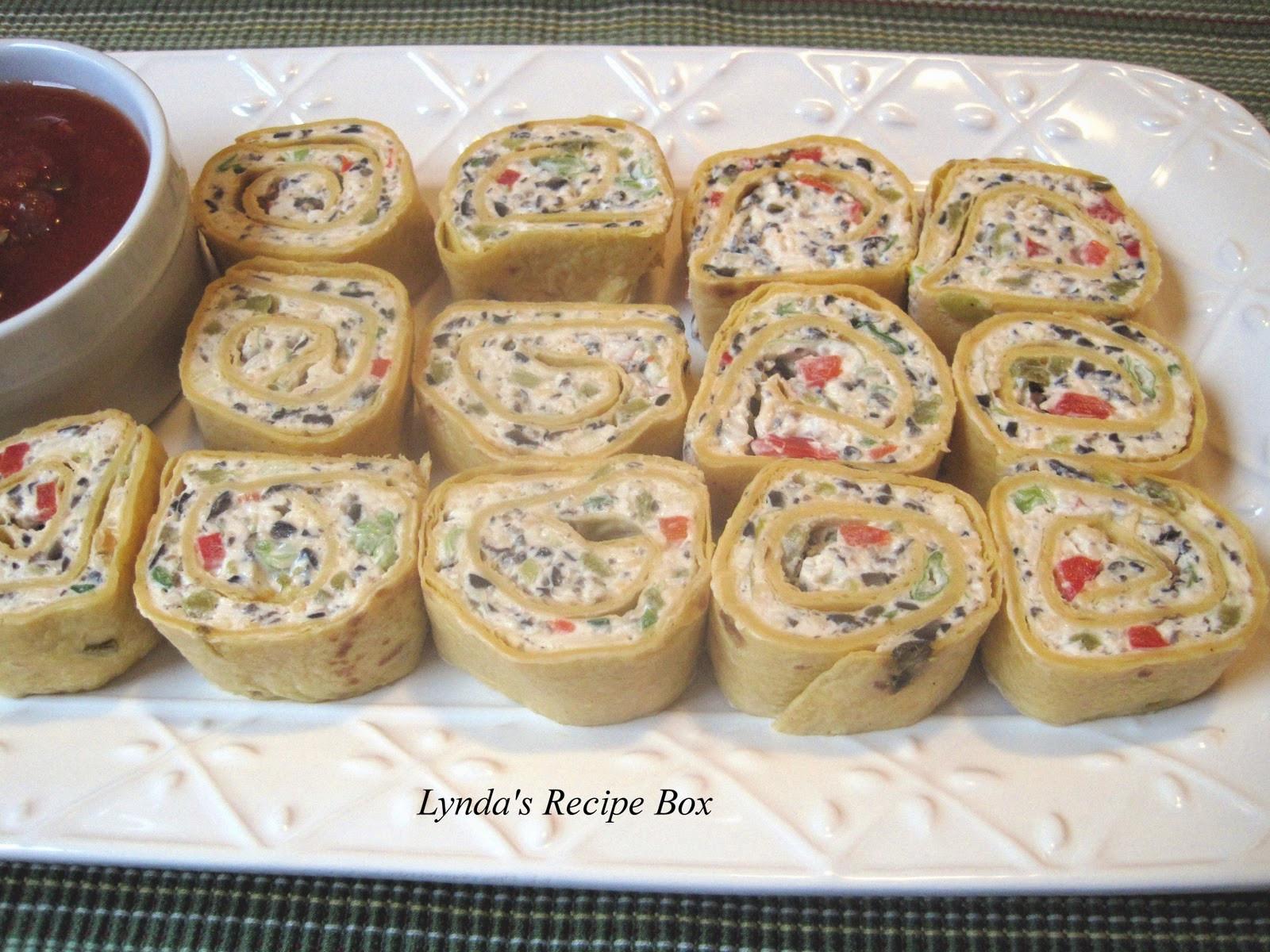 Tortilla Wraps Appetizer  Lynda s Recipe Box Tortilla Pinwheel Appetizers