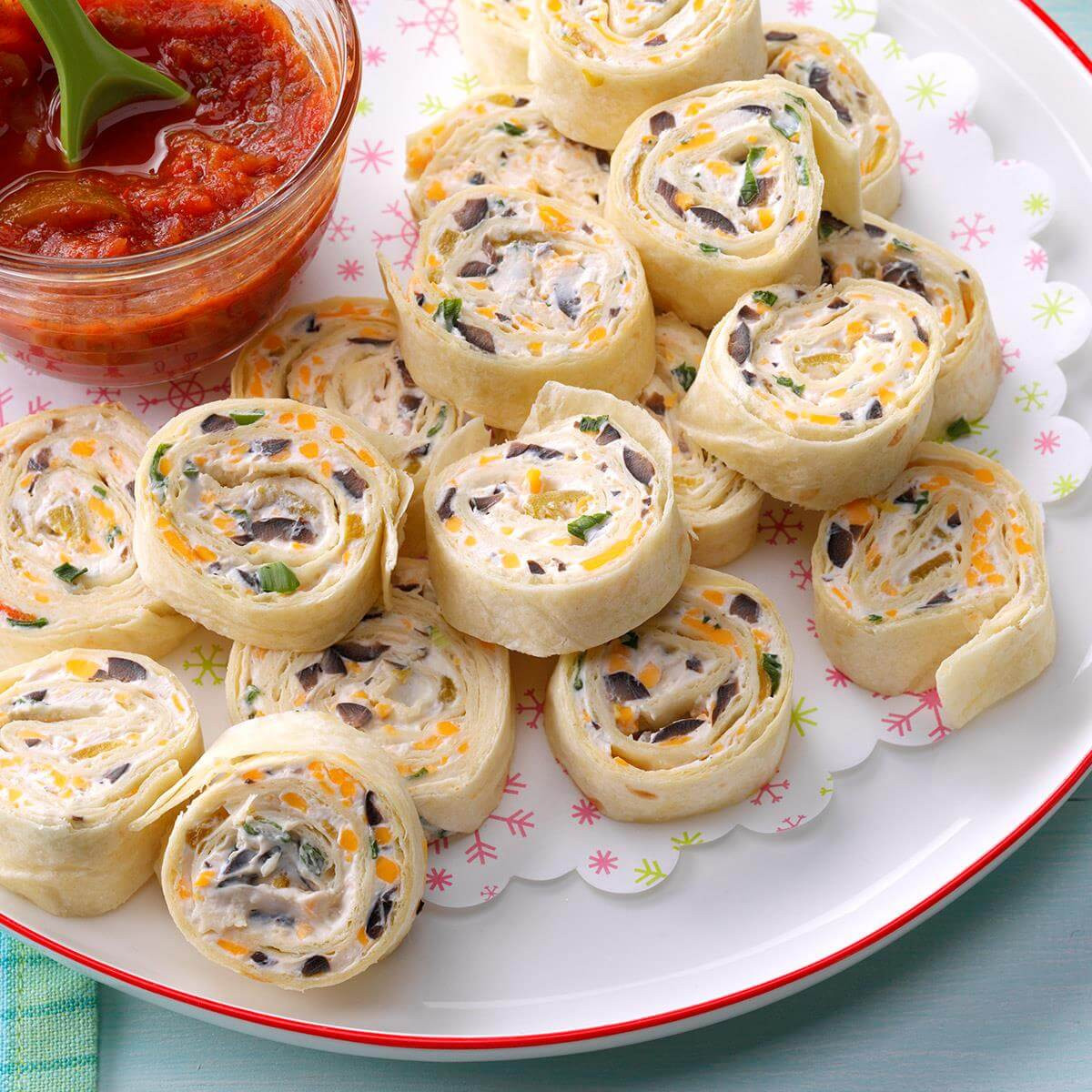 Tortilla Wraps Appetizer  Appetizer Tortilla Pinwheels Recipe