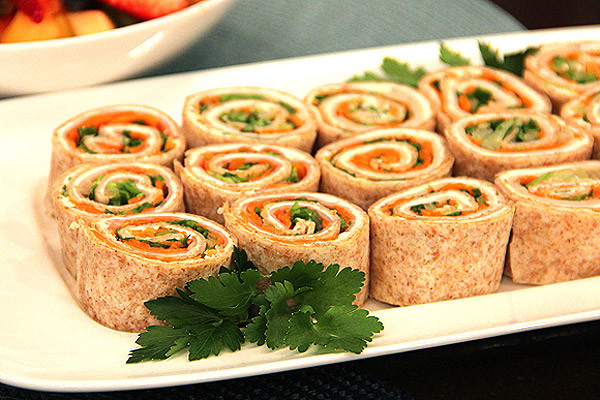 Tortilla Wraps Appetizer  Tortilla Pinwheels