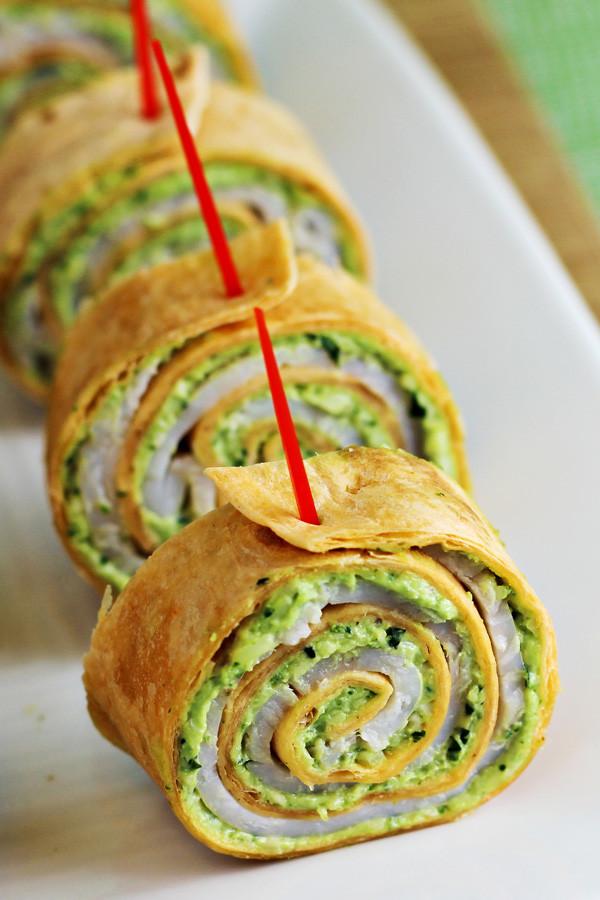 Tortilla Wraps Appetizer  Pesto Tortilla Pinwheels Recipe Home Cooking Memories