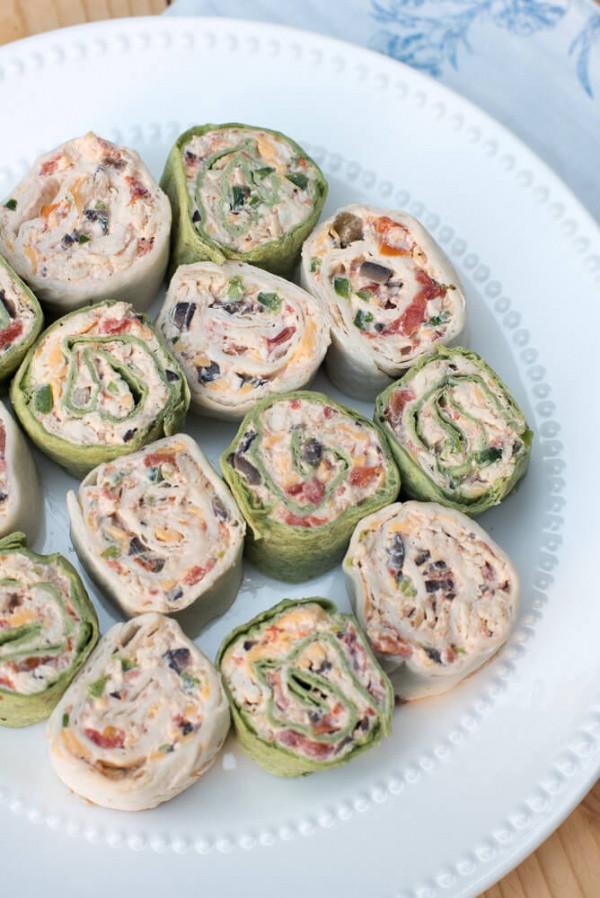 Tortilla Wraps Appetizer  Southwest Chicken Tortilla Pinwheels
