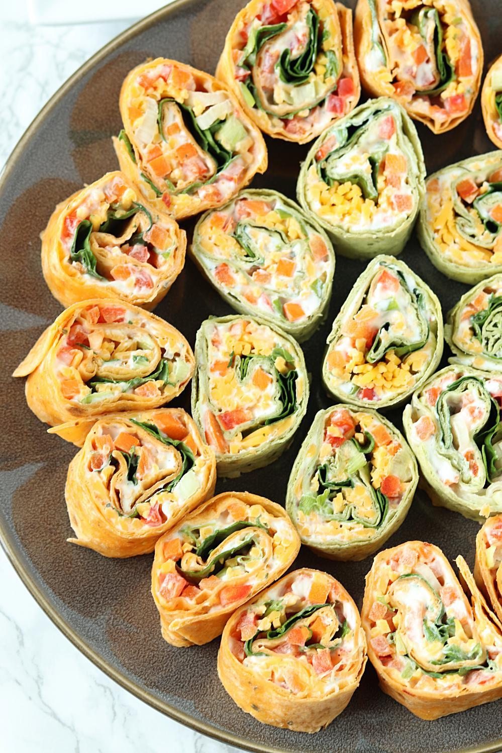 Tortilla Wraps Appetizer  Veggie Tortilla Pinwheels Appetizer SoFabFood Tailgating