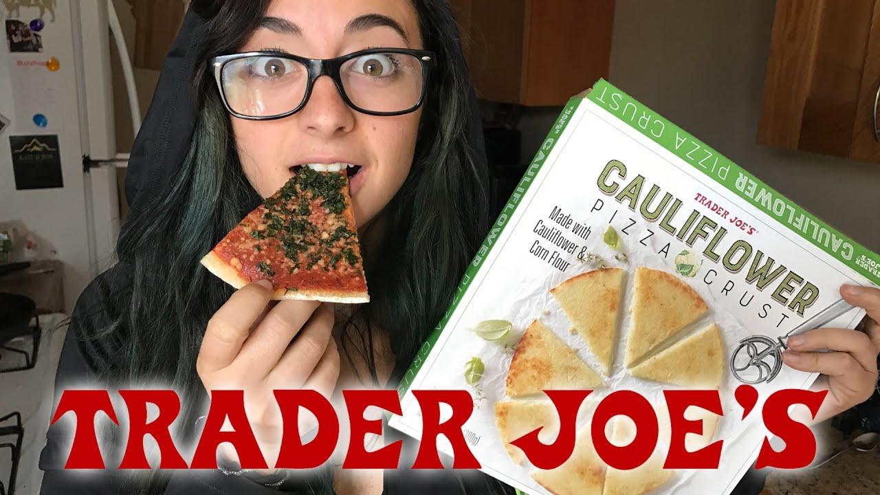 Trader Joe'S Cauliflower Pizza Crust  TRYING TRADER JOE S NEW CAULIFLOWER PIZZA CRUST
