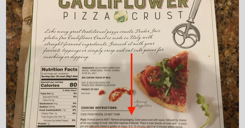 Trader Joe'S Cauliflower Pizza Crust  Trader Joe s Cauliflower Pizza Crust