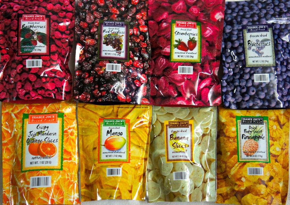 Trader Joe'S Healthy Snacks  4 PACKS Trader Joe s Natural Unsweetened & Unsulfured