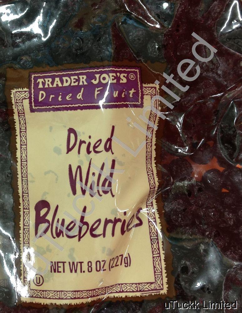 Trader Joe'S Healthy Snacks  8oz Trader Joe s Wild Blueberries Dried Fruit Healthy