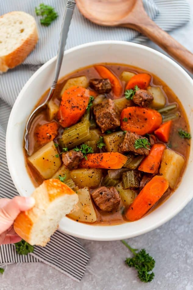 Traditional Beef Stew Recipe  Easy Old Fashioned Beef Stew Recipe Made in the Slow Cooker