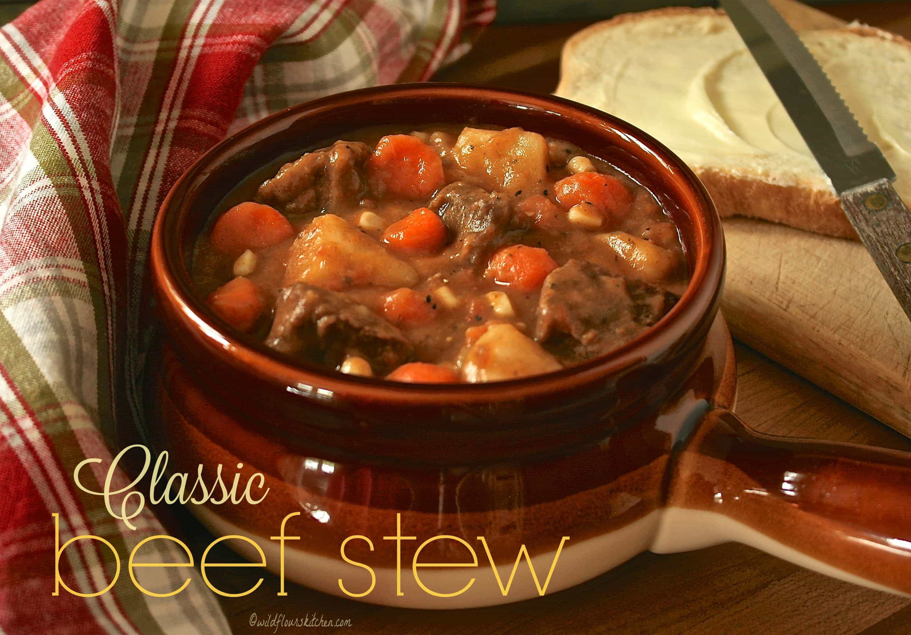 Traditional Beef Stew Recipe  old fashioned beef stew recipe stove top