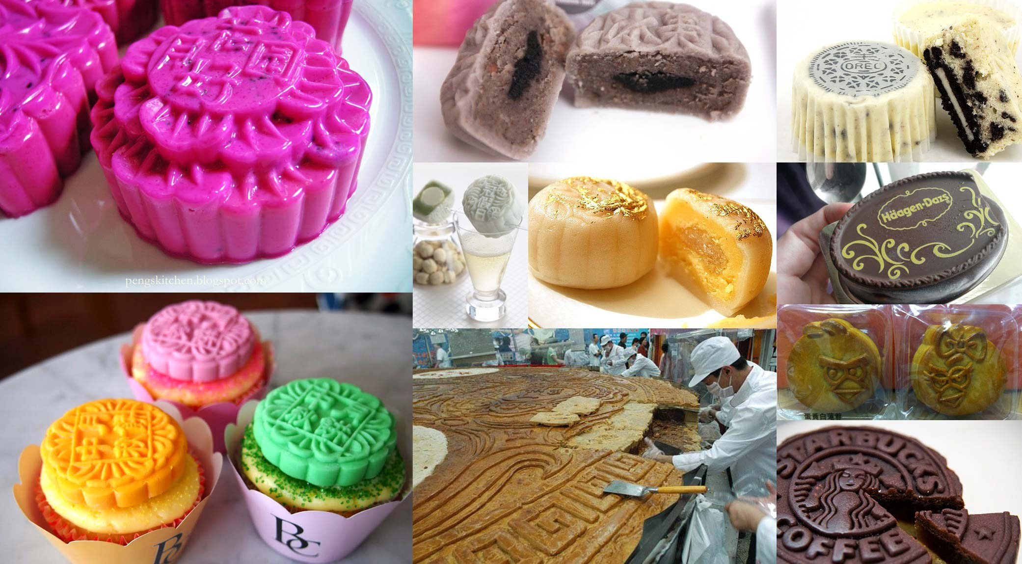 Traditional Chinese Desserts  Colors Cupcakes And Oreo Crazy Mooncakes