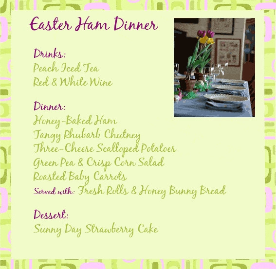 Traditional Easter Dinner Menu  Traditional Easter Dinner Menu